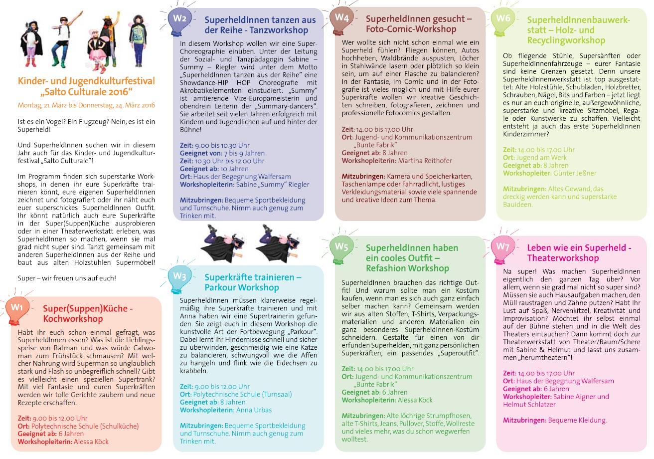 Kinder Und Jugendkulturfestival Salto Culturale